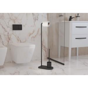 Стойка для ершика и туалетной бумаги напольная Sonia Nomad 176267 черная матовая