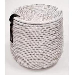 Корзина для белья из ротанга 2kkorzina белая 20-0039 W