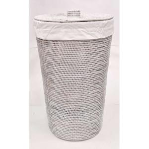 Корзина для белья из ротанга 2kkorzina белая 20-0006 W