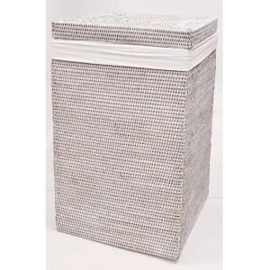 Корзина для белья из ротанга 2kkorzina белая 20-0007W