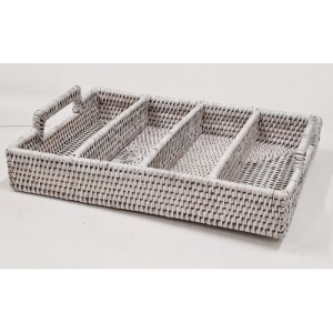 Лоток для столовых приборов белый 2kkorzina 20-0011 W/1