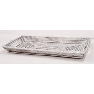 Поднос плетеный 2kkorzina белый 20-0013 W/2