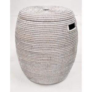 Корзина для белья с крышкой белая 2kkorzina 20-0024 W
