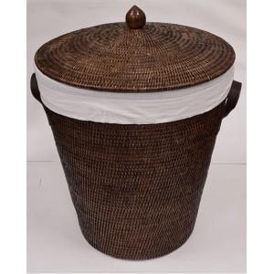 Корзина для белья из ротанга большая коричневая 2kkorzina 20-0027 Br