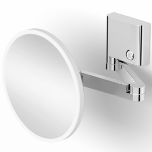 Зеркало косметическое с настраиваемой подсветкой (холодный/теплый свет) 3-х кратное Lansberger 82185-3S