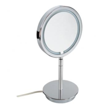 Косметическое настольное двухстороннее зеркало с подсветкой Windisch 99621CR