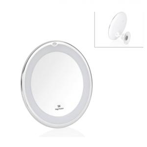Зеркало с увеличением, настенное на присоске, на батарейках, с подсветкой Andrea House BA69309