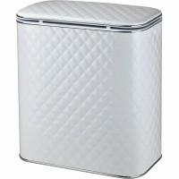 Корзина для белья белая стеганная большая Cameya WHC-B с хромированной окантовкой