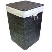 Корзина для белья из ротанга с крышкой черная 2kkorzina 16-03 Bl