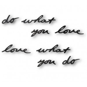 "Надпись декоративная Umbra ""Do what you love"" 470170-040"