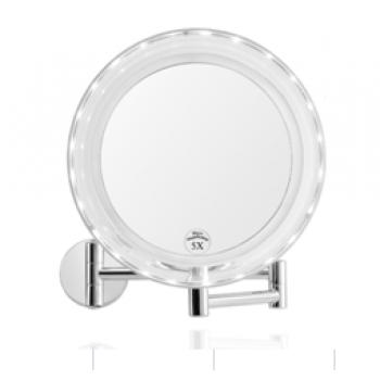 Зеркало с 5-ти кратным увеличением, настенное, на батарейках, с подсветкой Andrea House BA62077