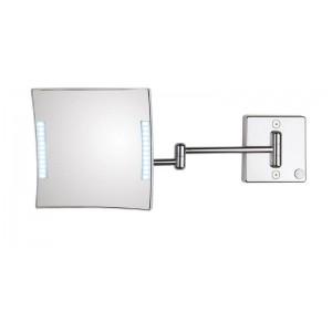 Зеркало настенное с подсветкой, с проводом, с 3-х кратным увеличением Koh-i-noor QUADROLO LED 61/2KK3