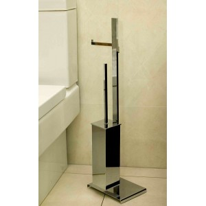 Стойка с ершиком и держателем для туалетной бумаги Open Kristallux LT161.013