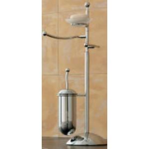 Стойка с ершиком, держателем для туалетной бумаги, полотенцедержателем и мыльницей Open Kristallux F164.013
