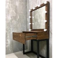 Туалетный столик с ящиком и зеркалом LoftMoscow Kns001