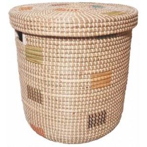 Корзина для белья из ротанговой травы плетеная 2kkorzina CO60152 S4 №1 бежевая