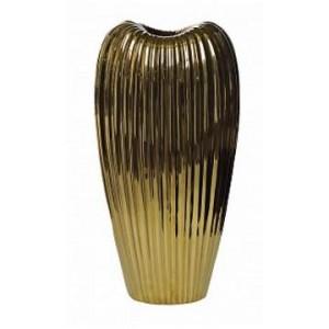 Ваза керамическая, золотая Garda Decor 10K9041B