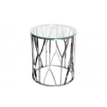 Столик журнальный с прозрачным стеклом (хром) 13RXET3103-SILVER