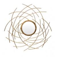 Зеркало металлическое золотое Garda Decor 19-OA-6046