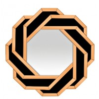 Зеркало декоративное черно-медное Garda Decor 19-OA-8128
