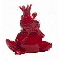 Статуэтка лягушка красная Garda Decor D2020