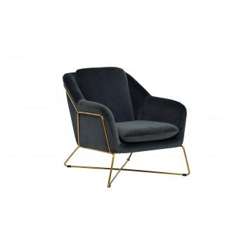 Кресло на металлическом каркасе велюровое светло - оливковое Garda Decor 46AS-AR2976-OLV