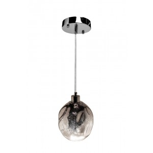 Светильник подвесной стеклянный дымчатый Garda Decor K2KG913P-NI