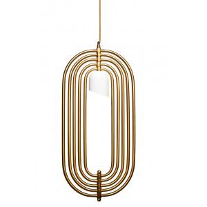 Светильник подвесной металлический золотой Garda Decor K2MP-95BR