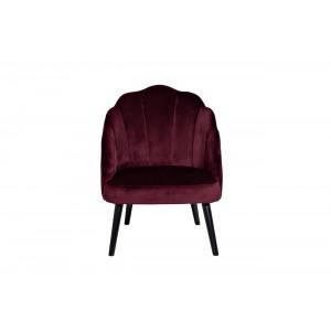 Кресло велюровое бордовое Garda Decor PJC483-PJ604