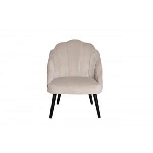 Кресло велюровое кремовое Garda Decor PJC483-PJ634