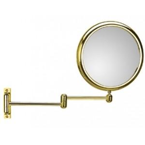 Зеркало настенное с 2-х кратным увеличением золотое Koh-i-noor DOPPIOLO 40/2G2