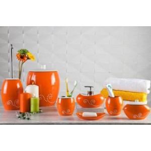 Набор аксессуаров для ванной Primanova Maison D-15370 оранжевый