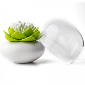 Контейнер для ватных палочек Umbra Lotus зеленый QL10157-WH-GN