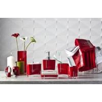 Набор аксессуаров для ванной Primanova Roma D-15230 красный