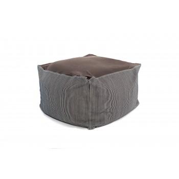 Кресло-пуф BodyFit Koh-i-noor COVER DENIM HICKORY (Серый в полоску)
