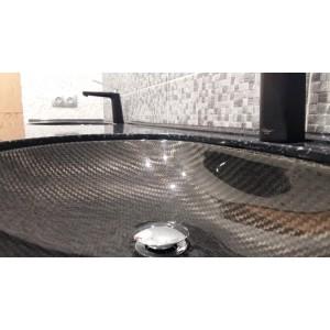 Мойка для раковины в ванну из карбона CRB20 круглая