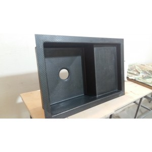 Кухонная мойка из карбона CRB10 прямоугольная