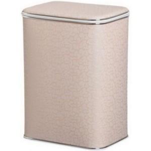 Корзина для белья Cameya FLH-B кремовая большая с хромированной окантовкой