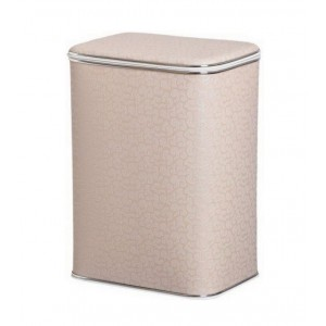 Корзина для белья Cameya FLH-M кремовая малая с хромированной окантовкой