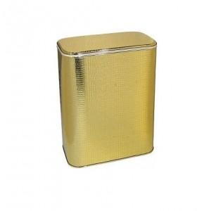 Корзина для белья Cameya GKr-M малая золото/крокодил