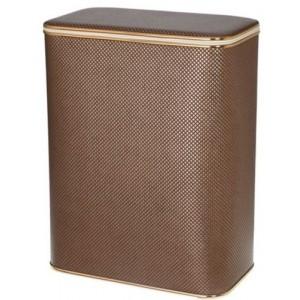 Корзина для белья Cameya KDG-B коричневая большая с золотой окантовкой