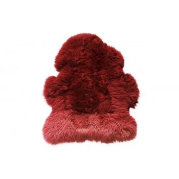 Овчина одношкурная вишнёвая XL 00000273