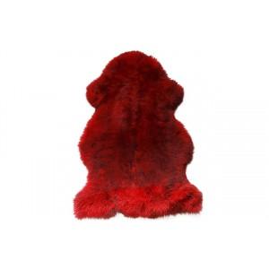 Овчина одношкурная красно-черная XL