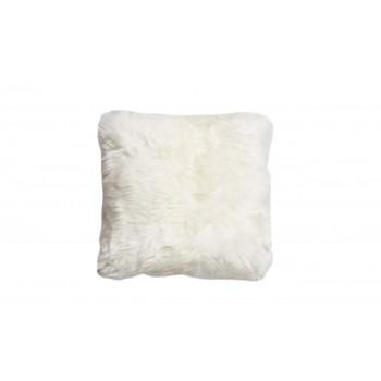 Подушка меховая белая двухсторонняя