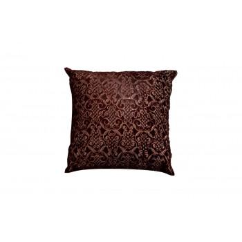 Подушка меховая бордовая