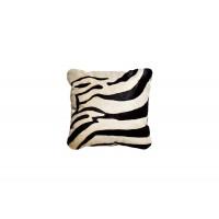 Подушка меховая черно-белая