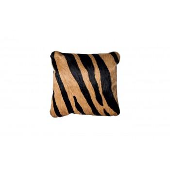 Подушка меховая черно-коричневая