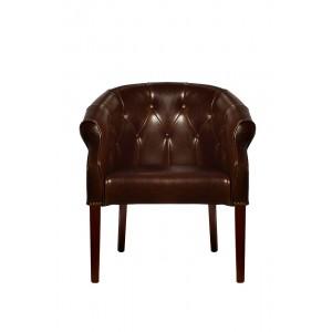Кресло кожаное темно-коричневое PJC347-PJ044