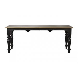 Стол обеденный раскладной чёрный SH23-HH.DT.03(черн.)