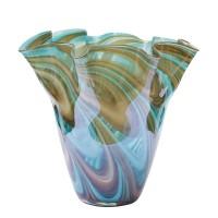 Ваза стеклянная (цветная) HJ6016-28-G4